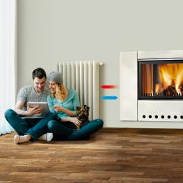 Heating your radiators with wood and pellet appliances